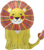 "28"" Lion Shape Mylar Foil Balloon"