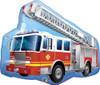 "36"" Big Fire Truck Shape Mylar Foil Balloon"