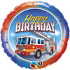 "18"" Birthday Fire Truck  Mylar Foil Balloon"
