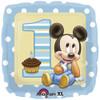 "18"" 1st Birthday Mickey  Mylar Foil Balloon"