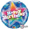 "18"" Birthday Blue Dazzling Star  Mylar Foil Balloon"