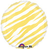 "18"" Zebra Yellow  Mylar Foil Balloon"
