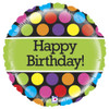 "21"" Mighty Polka Dots Birthday Balloon"