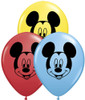 "5"" Mickey Mouse Face Assortment  Latex Balloons"