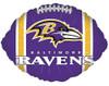 """18"""" Baltimore Ravens Football Shape Mylar Foil Balloon"""