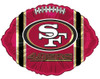 "18"" San Francisco 49ers Football Shape Mylar Foil Balloon"