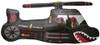 "36"" Helicopter Black Shape Mylar Foil Balloon"
