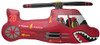 """36"""" Helicopter Red Shape Mylar Foil Balloon"""