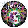 "18"" Mardi Gras  Mylar Foil Balloon"
