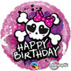 "18"" Birthday Skull & Crossbones  Mylar Foil Balloon"