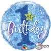 "18"" 1st Birthday Stars Blue  Mylar Foil Balloon"