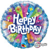 "18"" Birthday Radiance Blue  Mylar Foil Balloon"