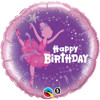 "18"" Birthday Ballerina  Mylar Foil Balloon"