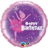 """18"""" Birthday Ballerina  Mylar Foil Balloon"""