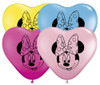 "6"" Minnie Mouse Face Assortment Latex Balloons"