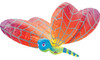 "40"" Dragonfly Rainbow Shape Mylar Foil Balloon"