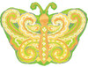 "18"" Paisley Citrus Butterfly Junior Shape Mylar Foil Balloon"
