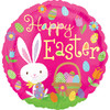 "18"" Playful Easter Bunny  Mylar Foil Balloon"