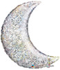 "35"" Holographic Crescent Moon Mylar Foil Balloon"