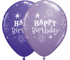 "11"" Birthday Sparkle Purple Violet & Spring Lilac Assortment Latex Balloons"