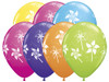 "11"" Pinwheels Tropical Assortment Latex Balloons"