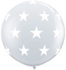 "36"" Big Stars Diamond Clear Latex Balloons"