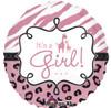 "18"" Safari Baby Girl  Mylar Foil Balloon"