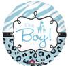 """18"""" Safari Baby Boy  Mylar Foil Balloon"""