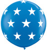 "36"" Big Stars Dark Blue Latex Balloons"