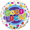"18"" Good Luck Color Dots  Mylar Foil Balloon"