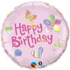 "18"" Birthday Fashion Pink  Mylar Foil Balloon"