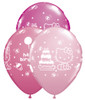 "11"" Hello Kitty Birthday Assortment Latex Balloons"