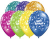 "11"" Sparkling Happy Birthday Fantasy Assortment Latex Balloons"