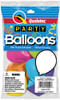 "11"" Popular Colors Assortment Latex Balloons - 8 Count Bag"