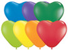 "6"" Hearts Carnival Assortment Latex Balloons - Bag of 100"