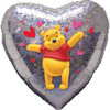 "18"" Winnie the Pooh Love Holographic Mylar Foil Balloon"