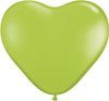 "6"" Fashion Lime Hearts Latex Balloons"