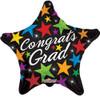 "18"" Grad Vibrant Stars Mylar Foil Balloon"