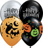 "11"" Fun Halloween Assortment Latex Balloons"