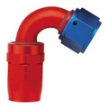 120˚ Elbow Fitting - Reusable Red/Blue Anodized Aluminum Swivel S.A.E. 37˚ (JIC/AN)