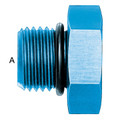O-ring Boss Plug (AN 814) - Aluminum Blue Anodized
