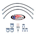 "Jeep CJ5, CJ7, CJ8 Disc Brakes 1982-1986 0""-2"" Lift - Stainless Steel Brake Line Kit"