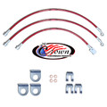 "Jeep Cherokee, Sportswagon, Mid Size XJ Series 1990-2001 0""-2"" Lift - Stainless Steel Brake Line Kit"