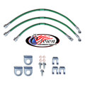"Jeep Cherokee, Sportwagon, Wagoneer, Mid Size XJ Series 1984-1989 3""-4"" Lift - Stainless Steel Brake Line Kit"