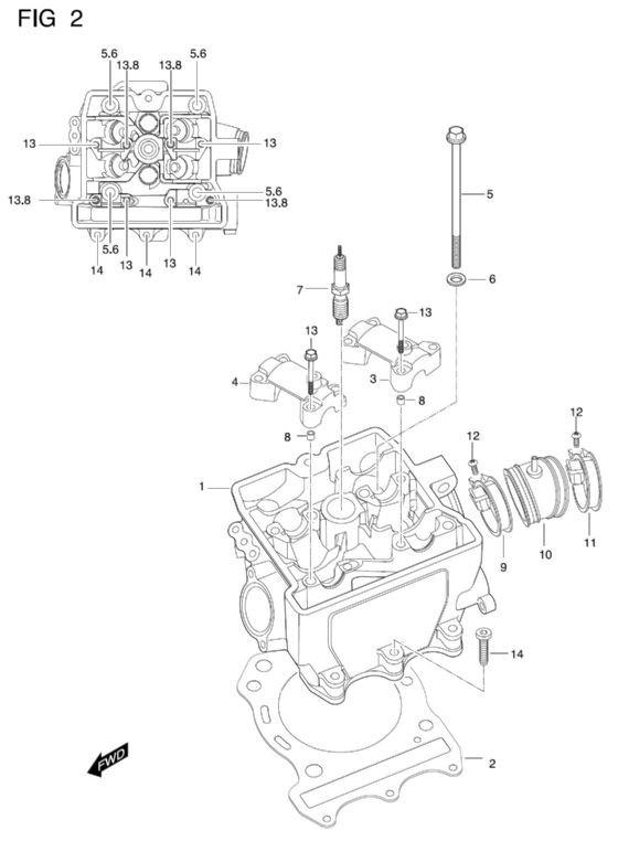 Hyosung TE450S Cylinder Head Gasket MTX450R Rapier