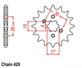 Taotao Chinese Front Counter Sprocket (Upgrade) 420