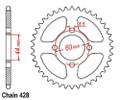 Coolster 49 tooth 428 rear sprocket