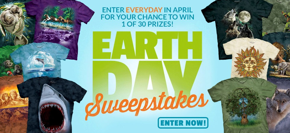 Earth Day Sweepstakes. Enter for your chance to win 1 of 30 prizes!