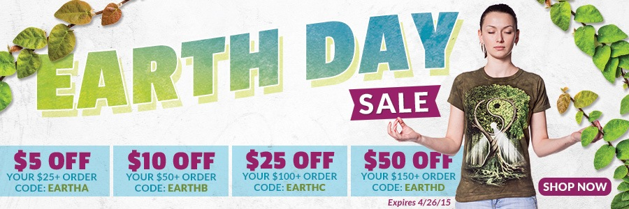 Earth Day Sale. Shop Now