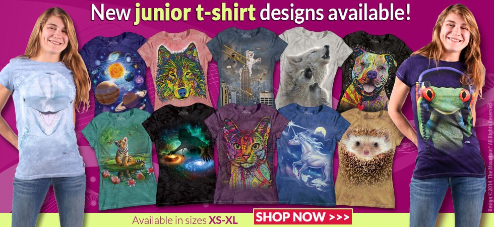 New Junior t-shirt designs available! Available in sizes XS-XL. SHOP NOW>>>